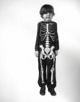 "<h5>Skeleton Boy</h5><p>Charcoal on paper, 48 x 35"" (121 x 89cm)</p>"