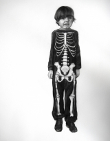 "<h5>Skeleton Boy</h5><p>Charcoal on paper, 48 x 35"" (121 x 89cm)</p>"