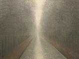 "<h5>Canal au brouillard</h5><p>Oil on canvas, 43"" x 57"" (110 x 145cm)</p>"