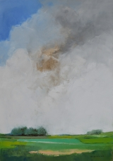 """<h5>Green Peace</h5><p>Oil on canvas, 36¼"""" x 25½"""" (92 x 65cm)</p>"""