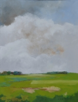 """<h5>Green Meadow</h5><p>Oil on canvas, 45½"""" x 35"""" (116 x 89cm)</p>"""