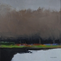 "<h5>Bois de Vincennes </h5><p>Oil on canvas, 15⅔"" x 15⅔"" (40 x 40cm)</p>"