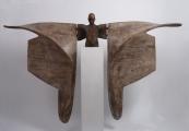 "<h5>Helicoide III</h5><p>Bronze and wood, 59 x 86½ x 10½"" (150 x 220 x 27cm)</p>"