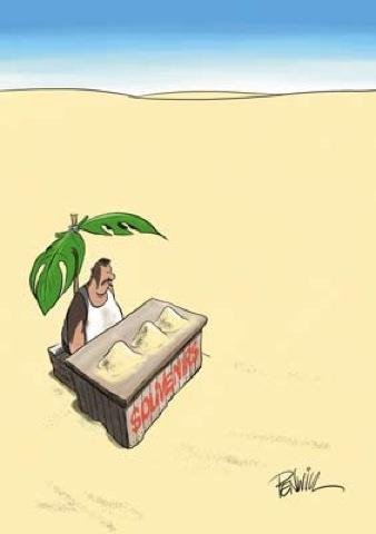 Vender areia no deserto