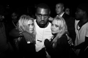 Mary-Kate & Ashley Olsen with Kanye West