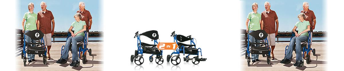 walker transport chair in one hugo navigator desk bedroom by combination rolling and navigatorrollator