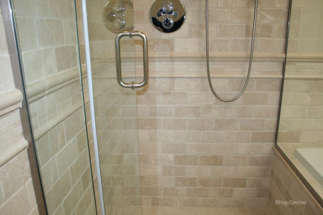 Curbless Marble Shower Cramiques Hugo Sanchez