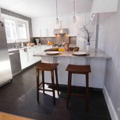 Black And White Tile Kitchen Backsplash Cart Ikea Carreaux De Ciment - Céramiques Hugo Sanchez Inc