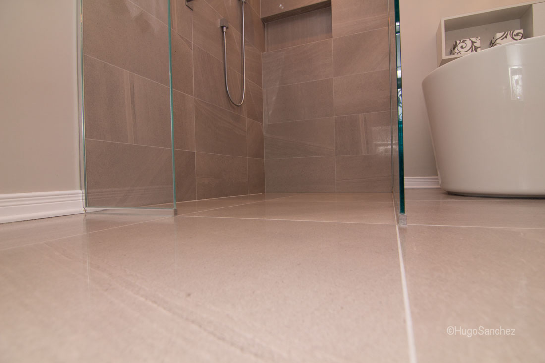 Heated shower floor  Cramiques Hugo Sanchez Inc