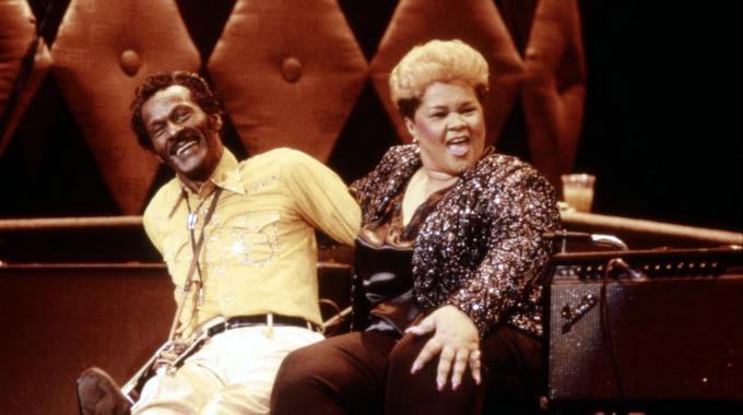 CHUCK BERRY HAIL! HAIL! ROCK 'N' ROLL, Chuck Berry, Etta James, 1987. (c) Universal Pictures