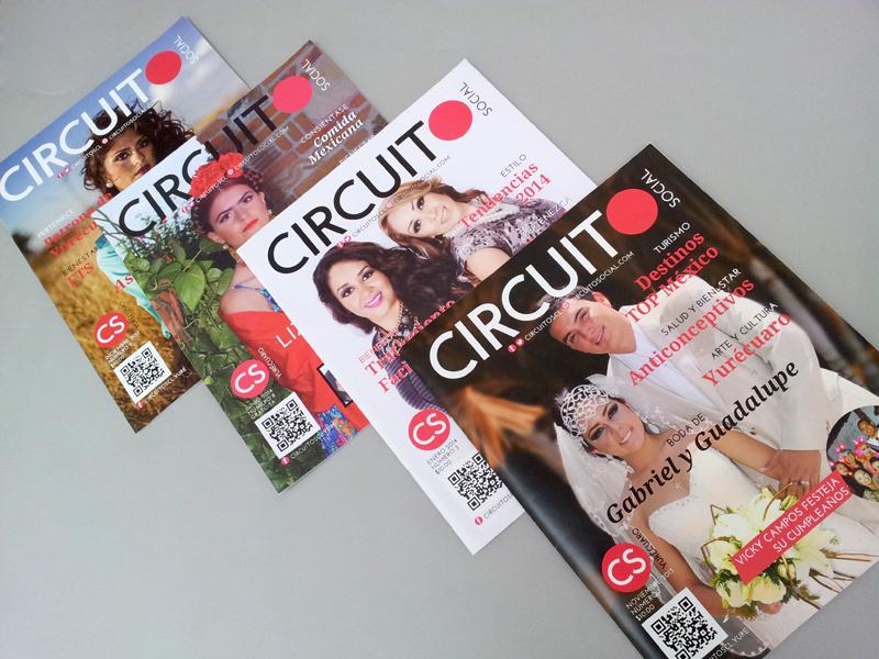 Diseño Editorial y Web para Circuito Social, revista social.
