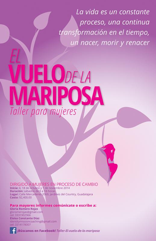 Diseño cartel para el taller El Vuelo de la Mariposa