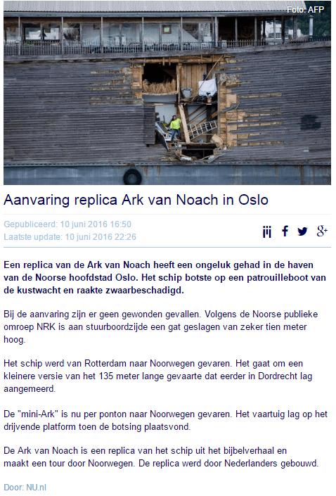 nu.nl ark van noach