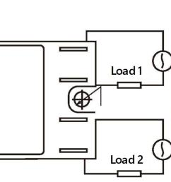 the picture and wiring diagram of single phase dual solid state relays [ 1679 x 565 Pixel ]