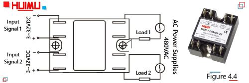 small resolution of the picture and wiring diagram of single phase dual solid state relays