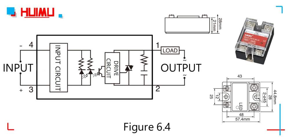 medium resolution of circuit diagram dimensions and drawing of the zero crossing ac solid state relays