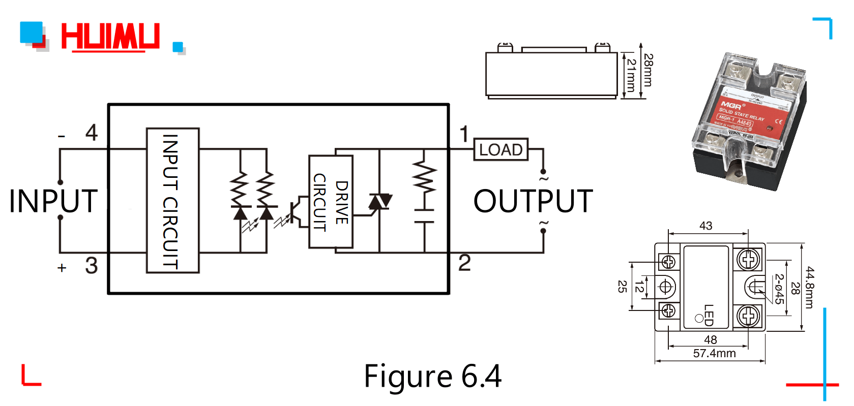 hight resolution of circuit diagram dimensions and drawing of the zero crossing ac solid state relays