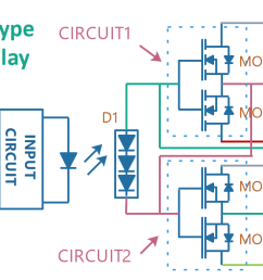 how does a single pole double throw switch work single pole double throw relay schematic [ 1678 x 699 Pixel ]