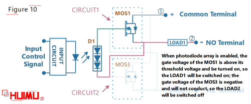 small resolution of photodiode array spdt solid state relay circuit diagram when the switch is turned on