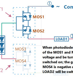photodiode array spdt solid state relay circuit diagram when the switch is turned on [ 1679 x 699 Pixel ]