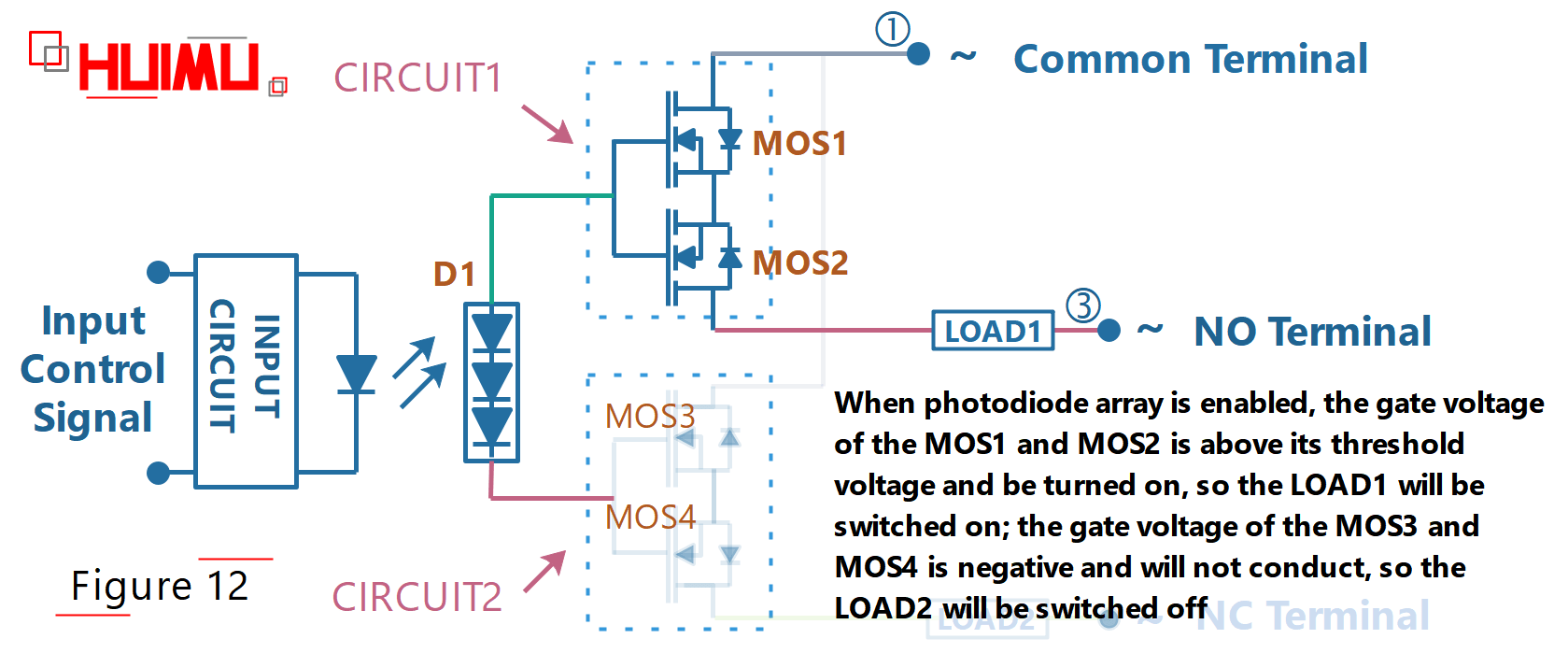 hight resolution of photodiode array spdt solid state relay circuit diagram when the switch is turned on