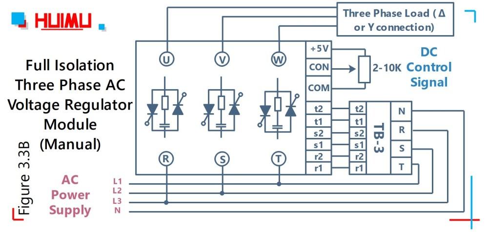 medium resolution of wiring diode bridge rectifier and power thyristor module mgr mager circuit diagram of voltage regulator three phase ac voltage regulator