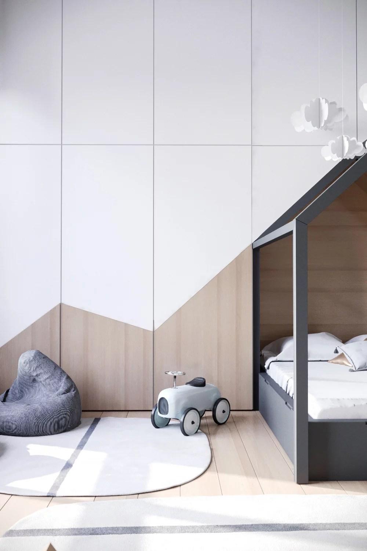 3D ontwerpen van een leuke neutrale kinderkamer  Huis