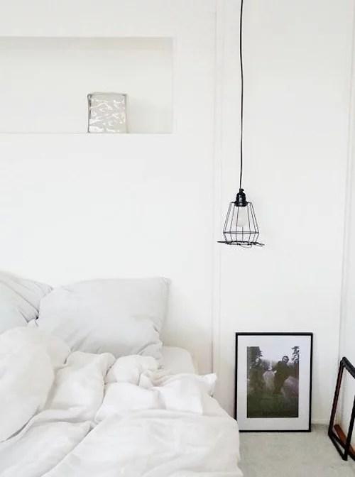 Simpele verlichting in de slaapkamer