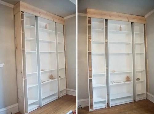 Inbouwkast met IKEA kasten