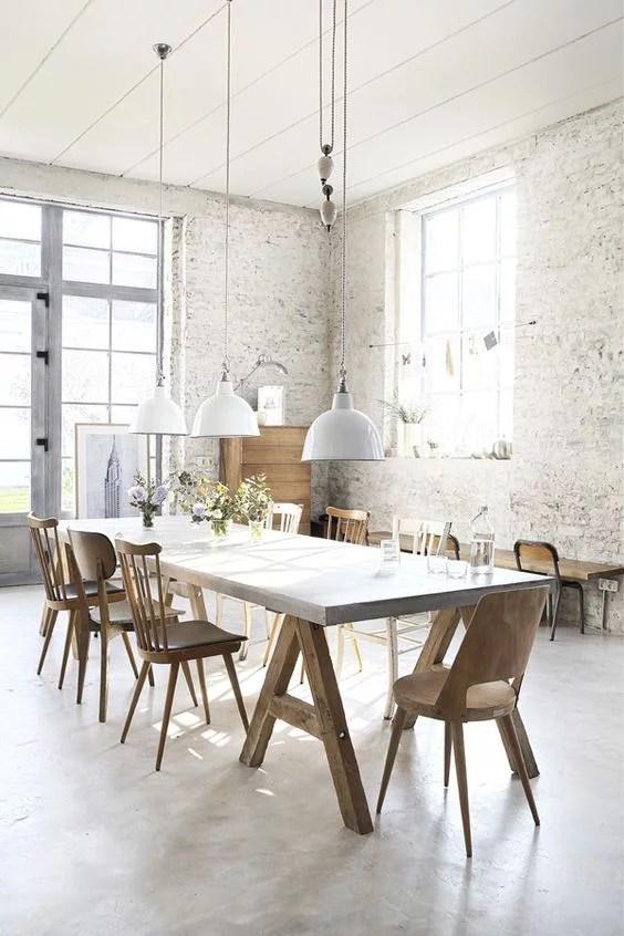 Industrile hanglamp boven de eettafel  Huisinrichtencom