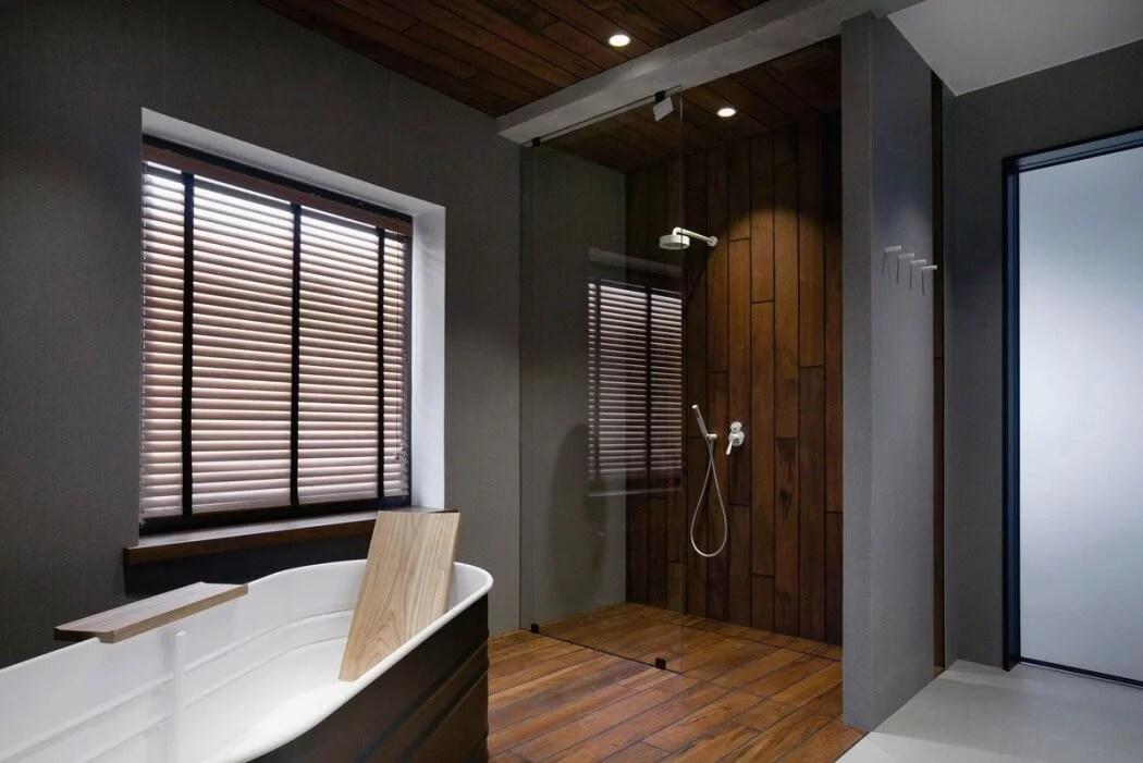 Industrile loft badkamer