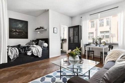 Klein eenkamerappartement van 35m2 in IKEA style  Huis