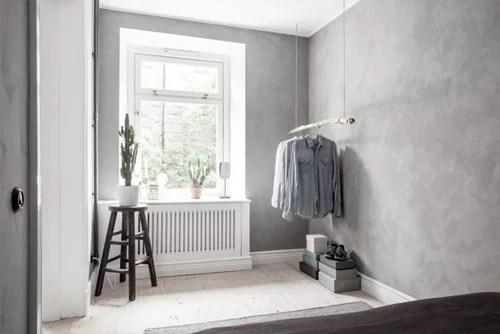 Kleine slaapkamer met betonstuc  Huisinrichtencom