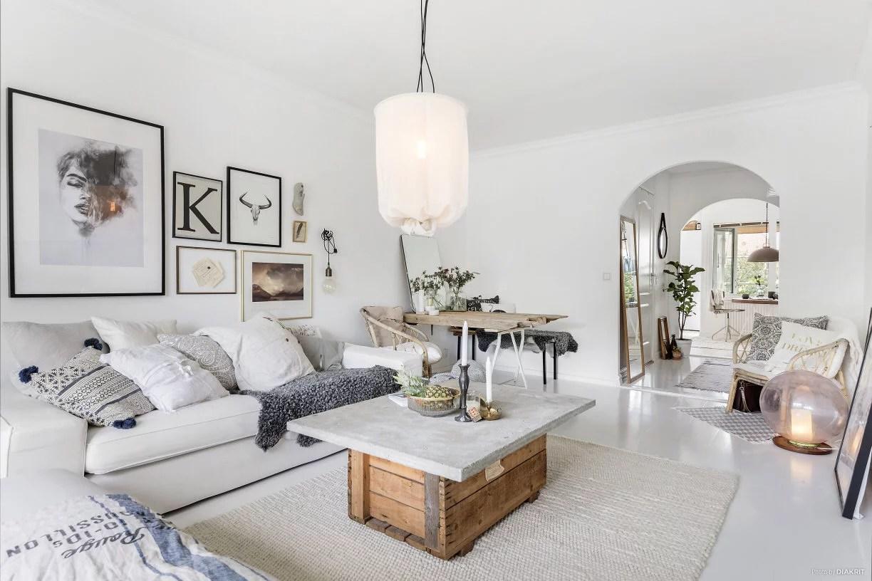 Een knusse witte woonkamer  Huisinrichtencom