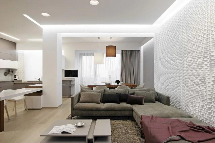 Modern Scandinavisch appartement met grijs  Huis