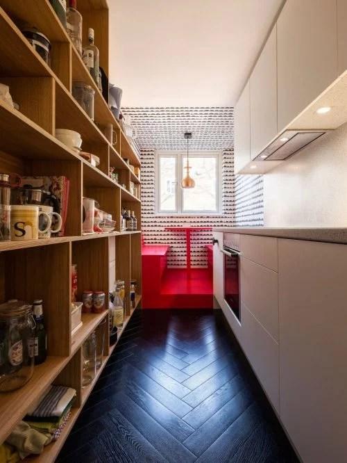 Smalle keuken met vaste eethoek  Huisinrichtencom