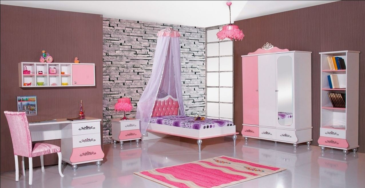 Prinsessenkamer roze  3 delige aanbiedingsset Kinderkamer