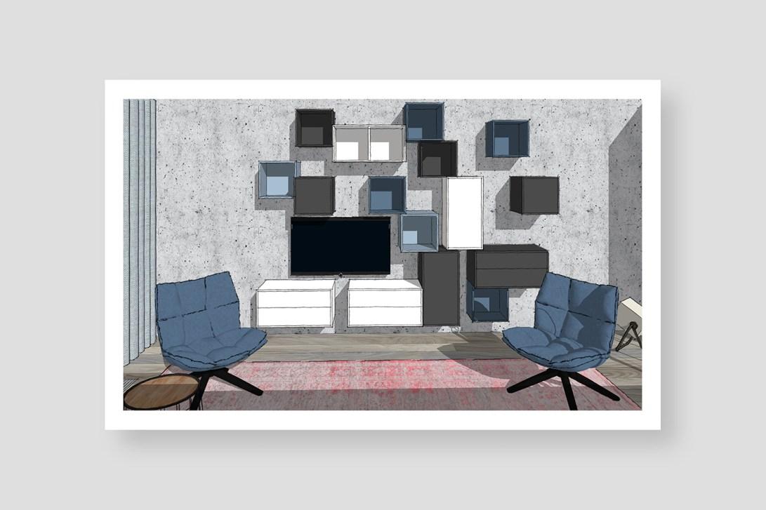 HUISnummer5 Den Haag | interieuradvies, interieurontwerp, bouwbegeleiding, styling en design. Woonkamer+keuken.