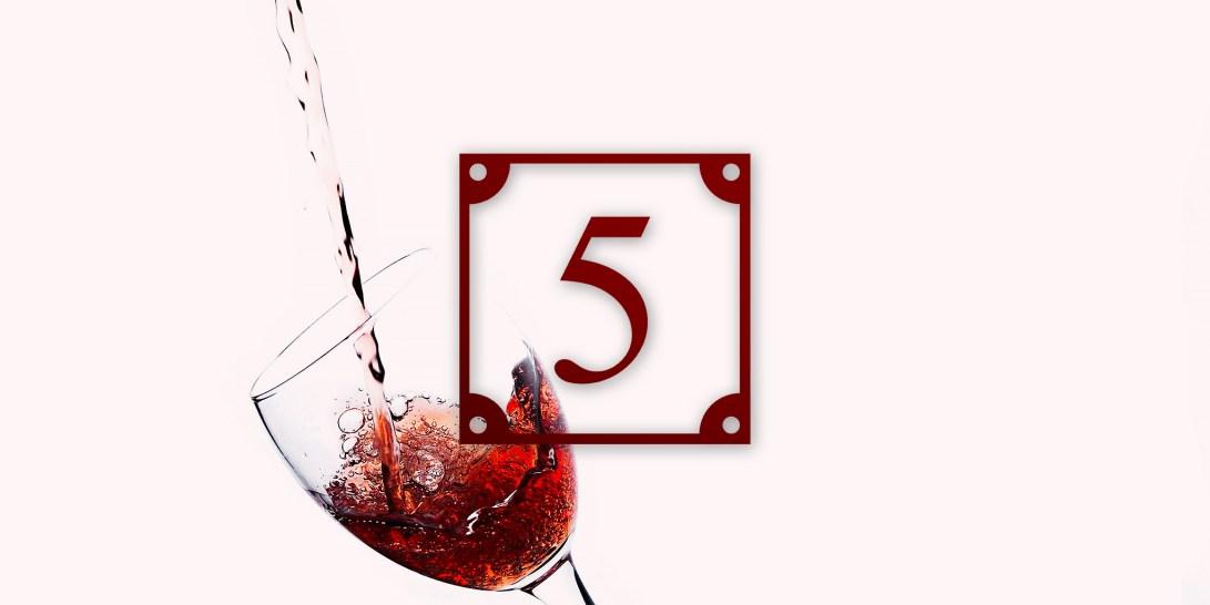 HUISnummer5 wijn design accessoires wijnrood