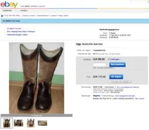 Uggs op eBay