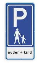 ouder-kind parkeerplaats