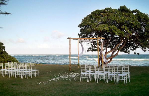 chiavari chairs wedding ceremony high chair small spaces weddings at hukilau lanai restaurant, kapaa, kauai, hawaii. fresh fish, seafood and island ...
