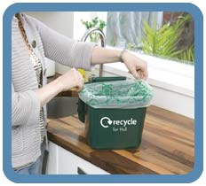 kitchen caddy commercial exhaust fan hull city council green food waste caddies line the with compostable liners
