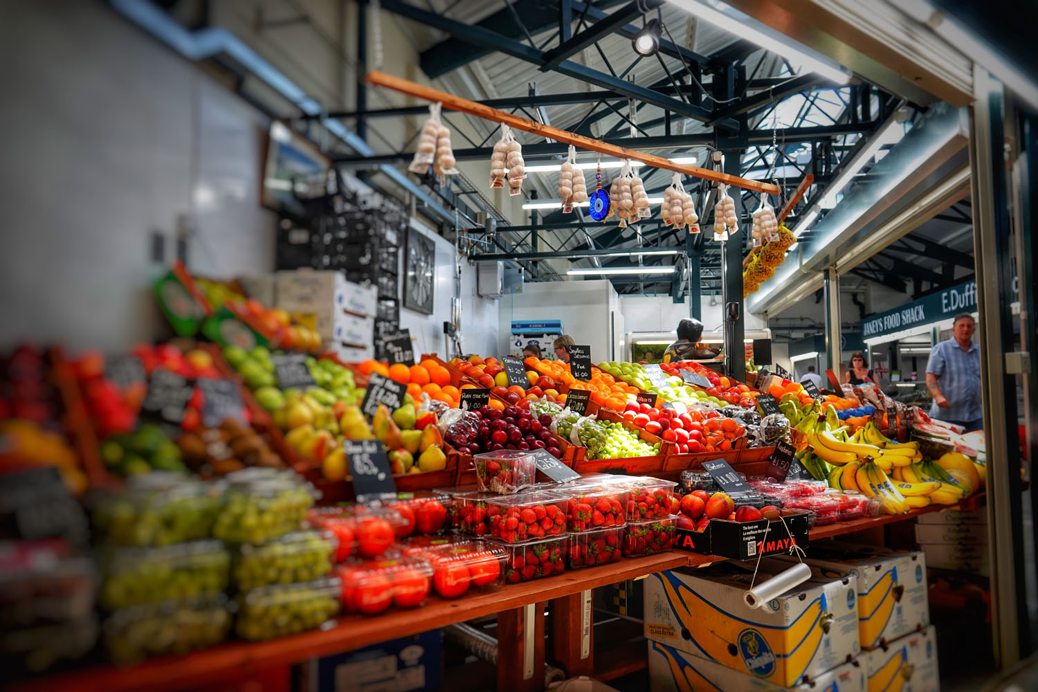 Chak and Sue greengrocers in Trinity Market.