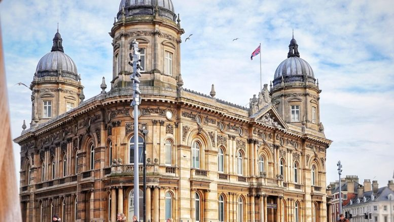 The Hull Maritime Museum in Queen Victoria Square.