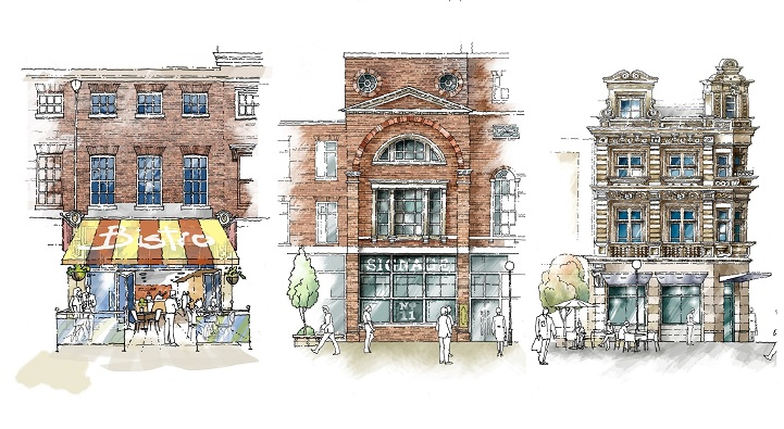 Concept sketches have been commissioned to show how the restoration of frontages to properties on Whitefriargate could be delivered to reflect some of the original design features.