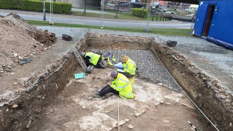 Site preparation at Hull's South Blockhouse.