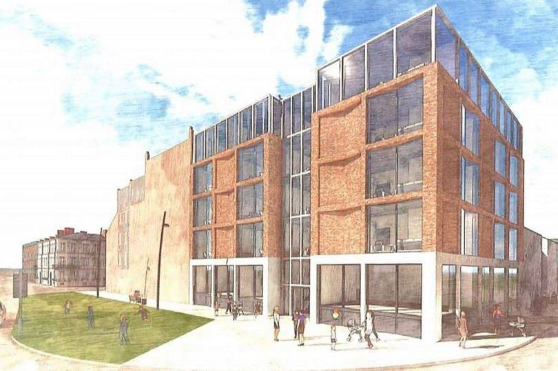 Hull city centre could get a new apartment building with 30 flats, roof terrace, cinema and a gym.