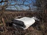 A fly-tipped mattress