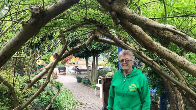 Founder of the rainbow garden, Jeannie Webster.